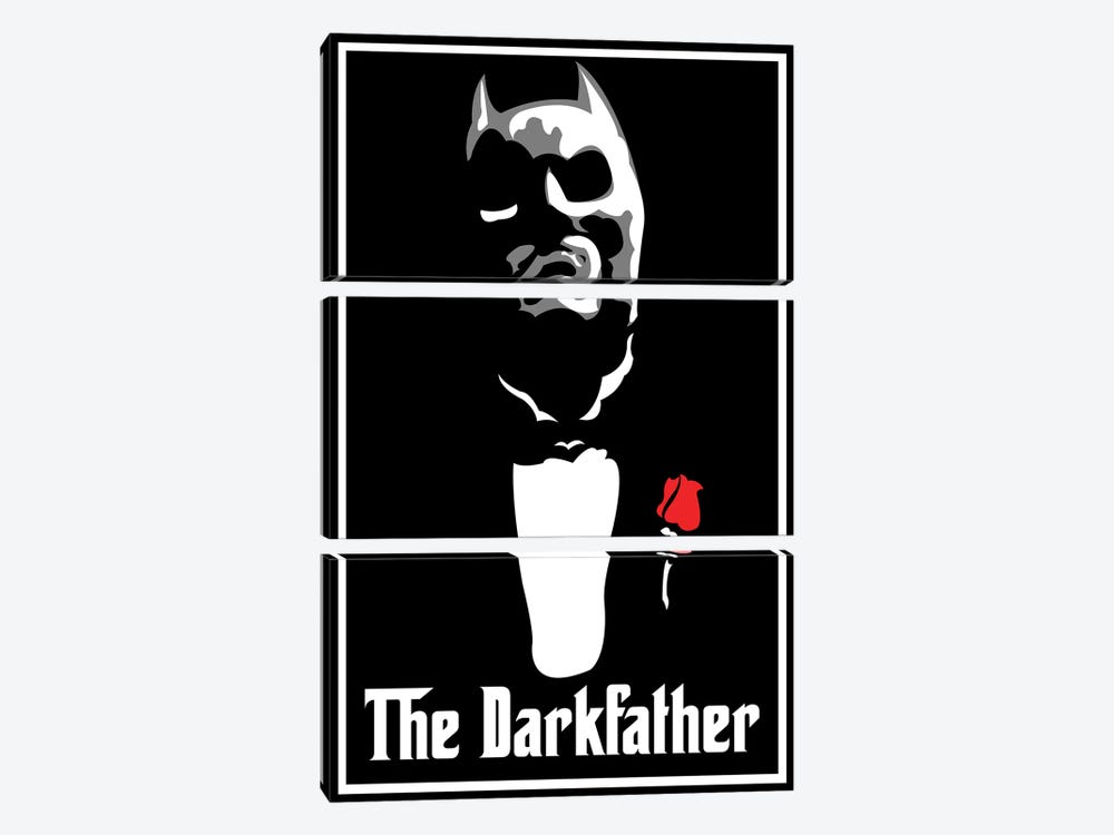 The Darkfather by Cristian Mielu 3-piece Canvas Print