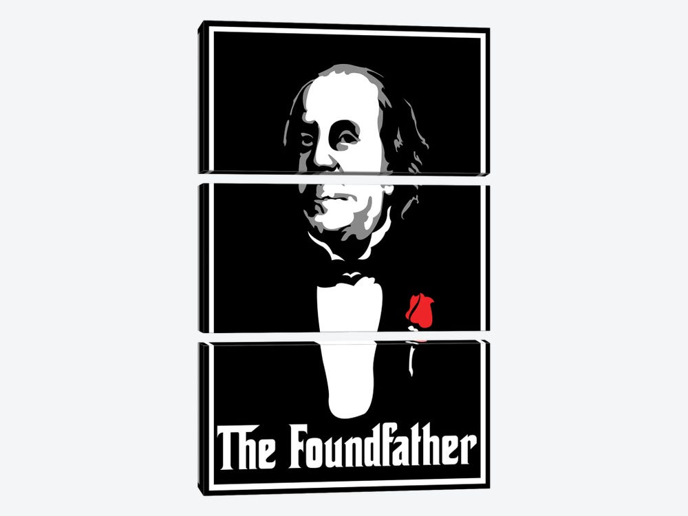 The Foundfather 3-piece Canvas Wall Art