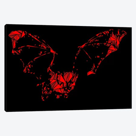 Bat Canvas Print #MIE10} by Cristian Mielu Canvas Artwork