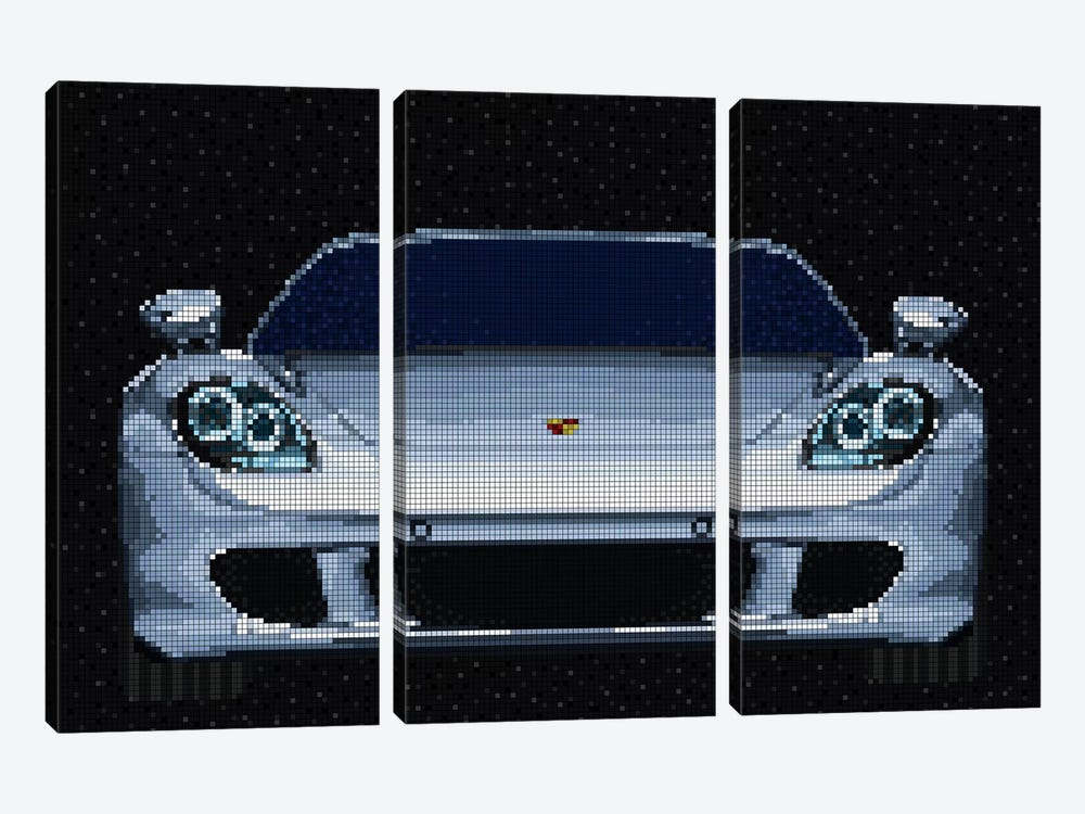 Carrera GT by Cristian Mielu 3-piece Art Print
