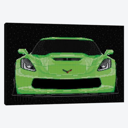 Corvette Canvas Print #MIE115} by Cristian Mielu Canvas Art Print