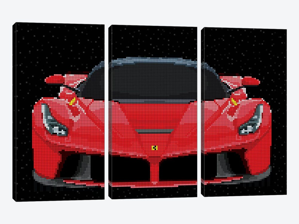 La Ferrari by Cristian Mielu 3-piece Canvas Art