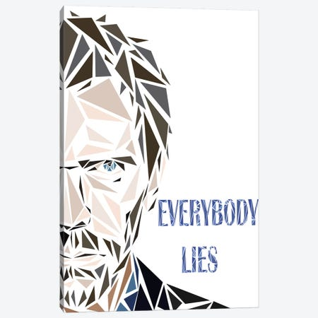 House MD - Everybody Lies Canvas Print #MIE127} by Cristian Mielu Canvas Art