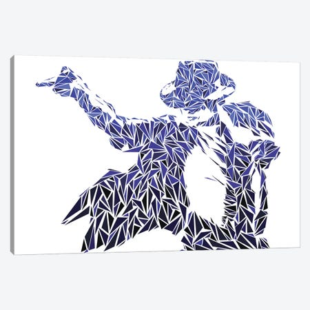 Mj - Iconic Moves Canvas Print #MIE129} by Cristian Mielu Art Print