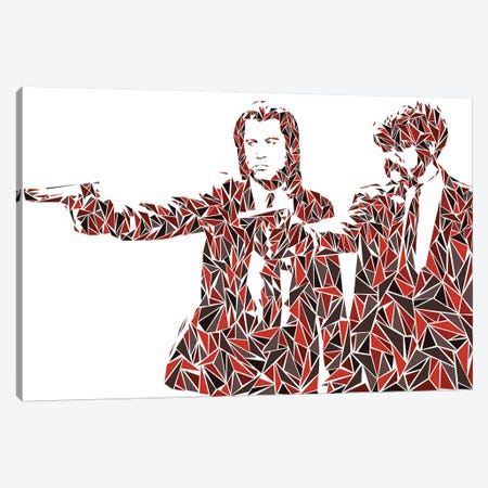 Pulp Fiction - Two Pistols Canvas Print #MIE133} by Cristian Mielu Canvas Wall Art