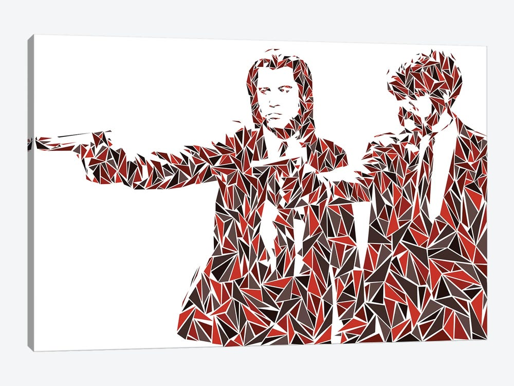 Pulp Fiction - Two Pistols by Cristian Mielu 1-piece Canvas Wall Art
