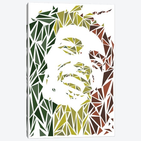 Bob Marley Canvas Print #MIE13} by Cristian Mielu Canvas Art