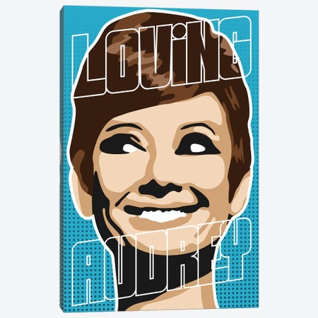 Loving Audrey I Canvas Print #MIE147} by Cristian Mielu Canvas Artwork