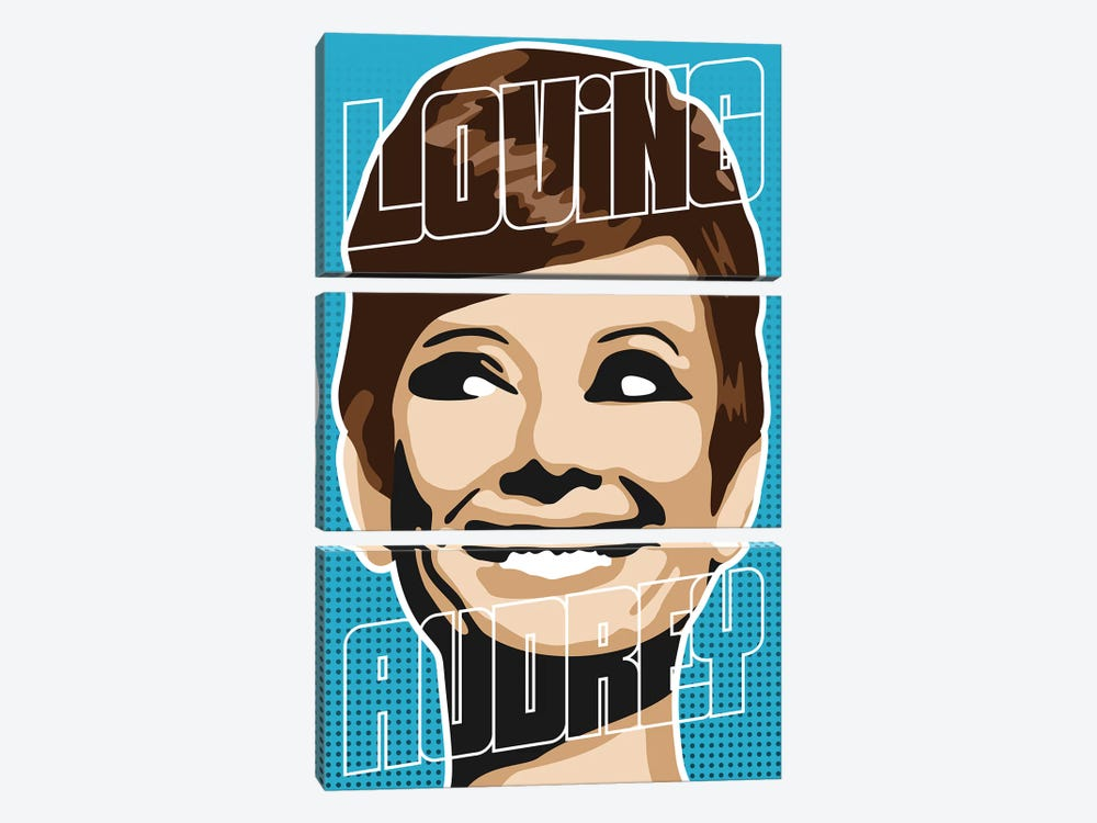 Loving Audrey I by Cristian Mielu 3-piece Canvas Print