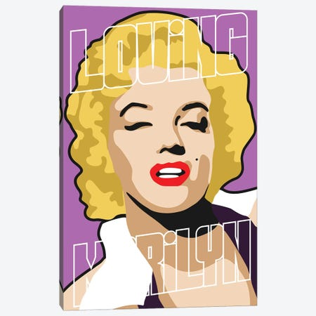 Loving Marilyn I Canvas Print #MIE149} by Cristian Mielu Art Print