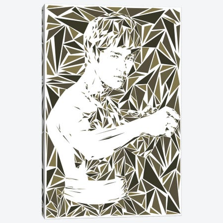 Bruce Lee Canvas Print #MIE14} by Cristian Mielu Canvas Print