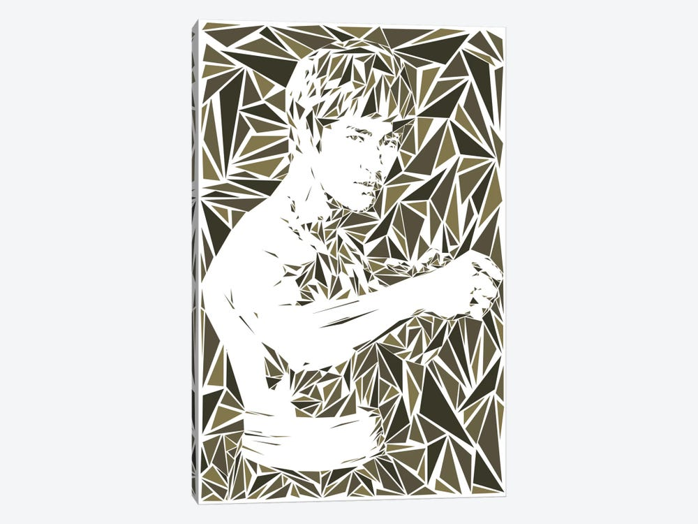Bruce Lee by Cristian Mielu 1-piece Canvas Art Print