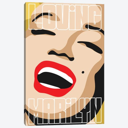 Loving Marilyn IV Canvas Print #MIE152} by Cristian Mielu Canvas Art