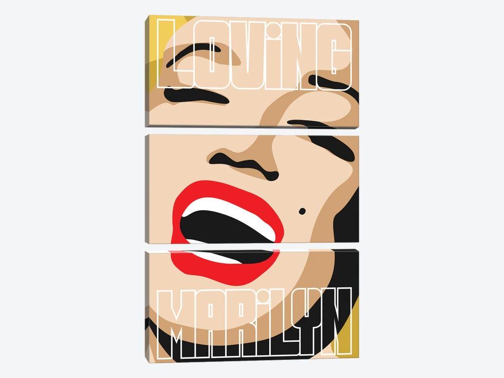Loving Marilyn IV by Cristian Mielu 3-piece Art Print