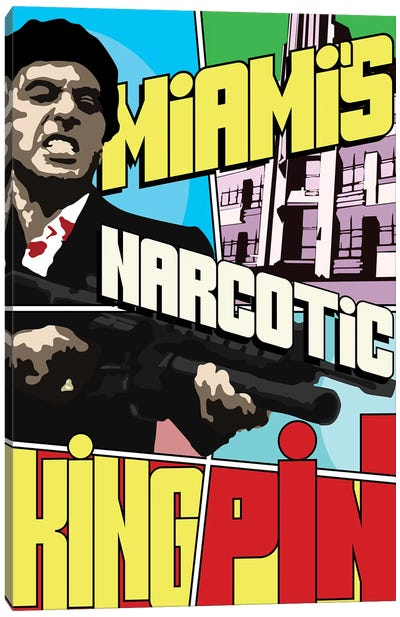 Miami's Narcotic Kingpin Canvas Art Print
