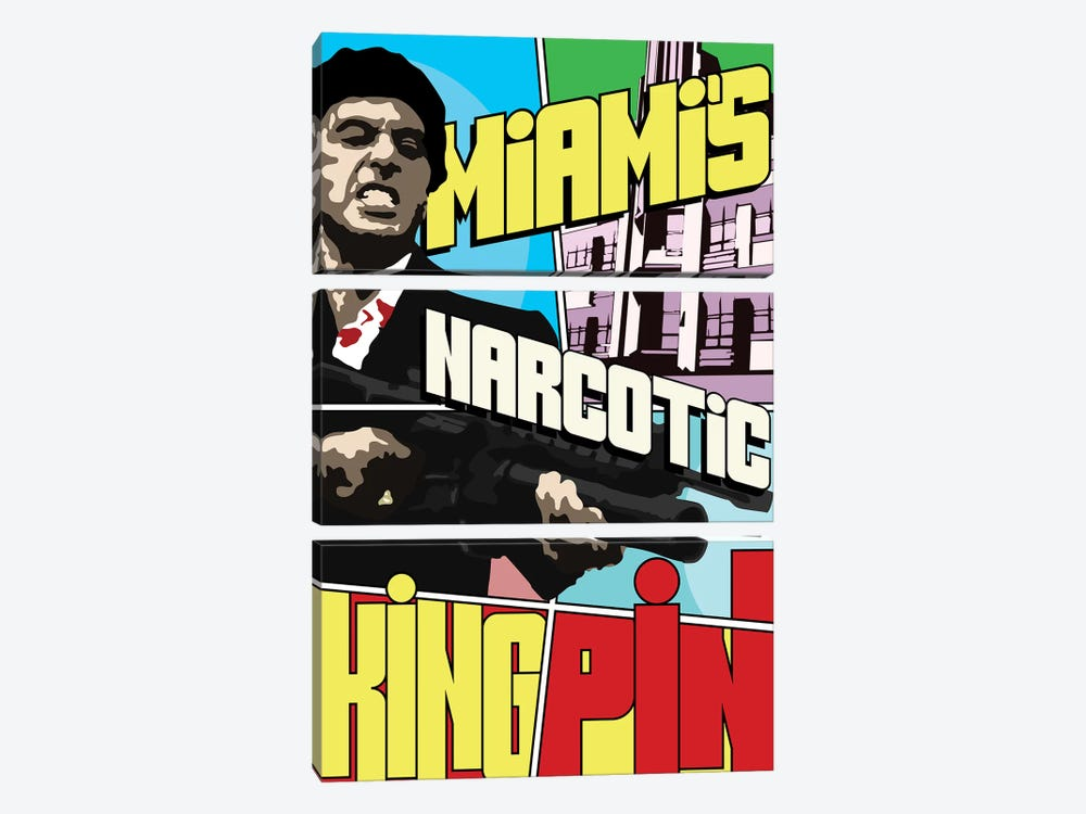 Miami's Narcotic Kingpin by Cristian Mielu 3-piece Canvas Art