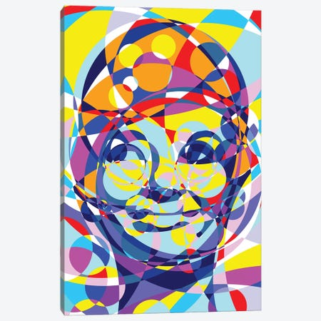 Audrey United Circles Canvas Print #MIE155} by Cristian Mielu Canvas Print