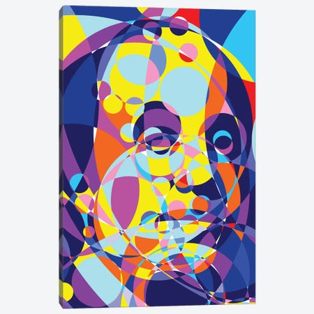 Benjamin Franklin United Circles Canvas Print #MIE156} by Cristian Mielu Art Print
