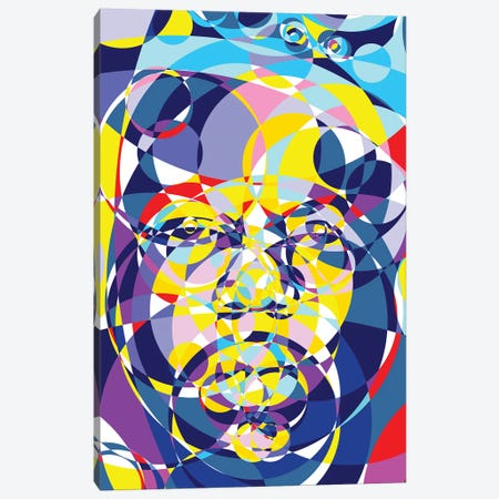 Biggie United Circles Canvas Print #MIE157} by Cristian Mielu Art Print