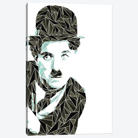 Charlie Chaplin I Canvas Print #MIE15} by Cristian Mielu Canvas Art Print
