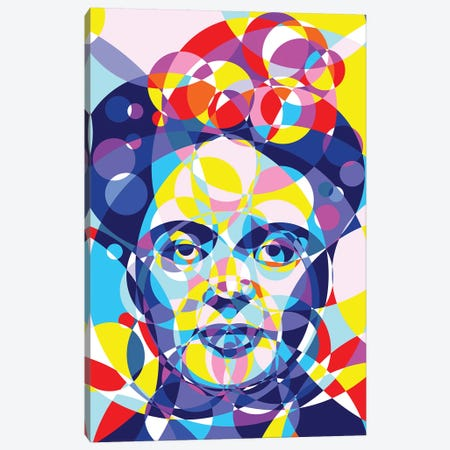 Frida United Circles Canvas Print #MIE161} by Cristian Mielu Art Print