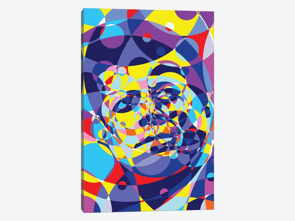 Jfk United Circles by Cristian Mielu 1-piece Canvas Wall Art