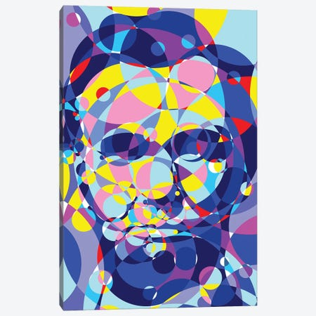 Abraham Lincoln United Circles Canvas Print #MIE165} by Cristian Mielu Canvas Artwork