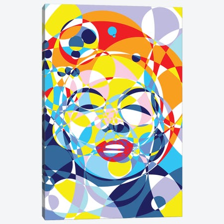 Marilyn United Circles Canvas Print #MIE166} by Cristian Mielu Canvas Wall Art