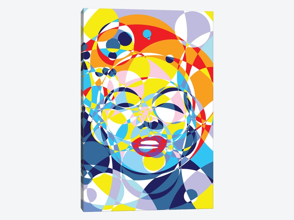 Marilyn United Circles by Cristian Mielu 1-piece Canvas Art