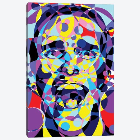 American Psycho United Circles Canvas Print #MIE167} by Cristian Mielu Canvas Wall Art