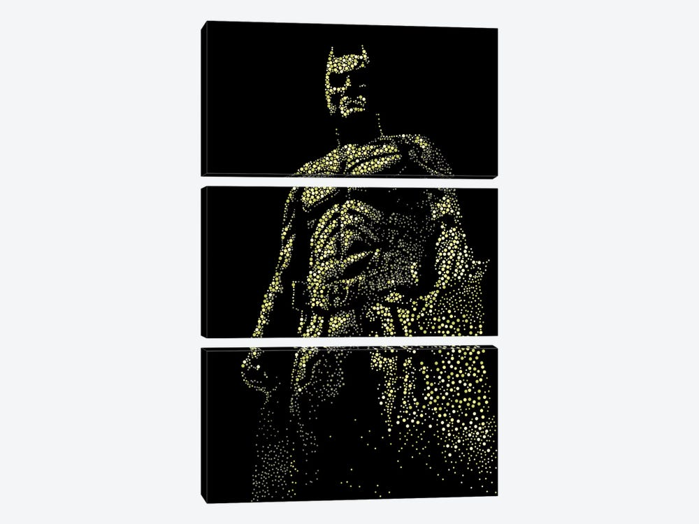 Dark Knight by Cristian Mielu 3-piece Canvas Print