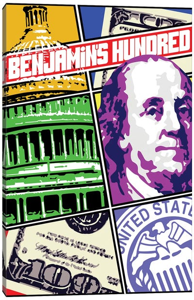 Benjamin Franklin Comic Cover Canvas Art Print