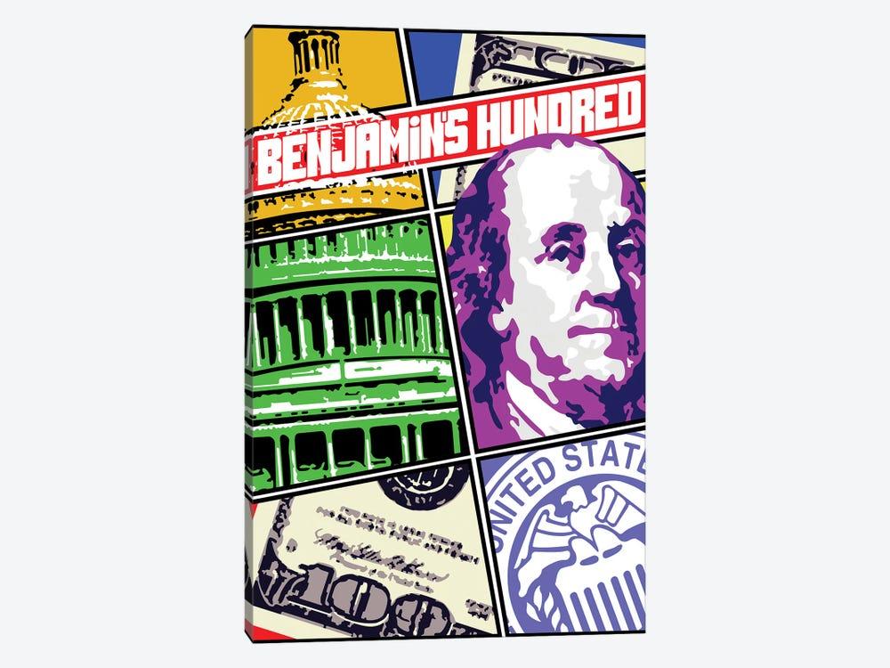 Benjamin Franklin Comic Cover by Cristian Mielu 1-piece Canvas Artwork