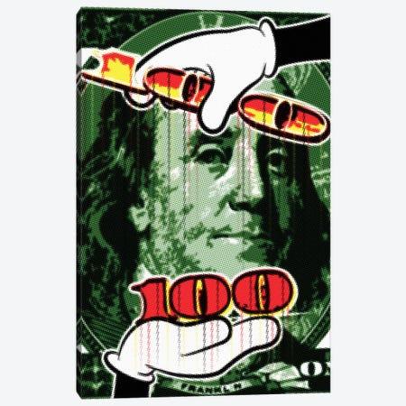 Benjamin Raster Points II Canvas Print #MIE177} by Cristian Mielu Canvas Print