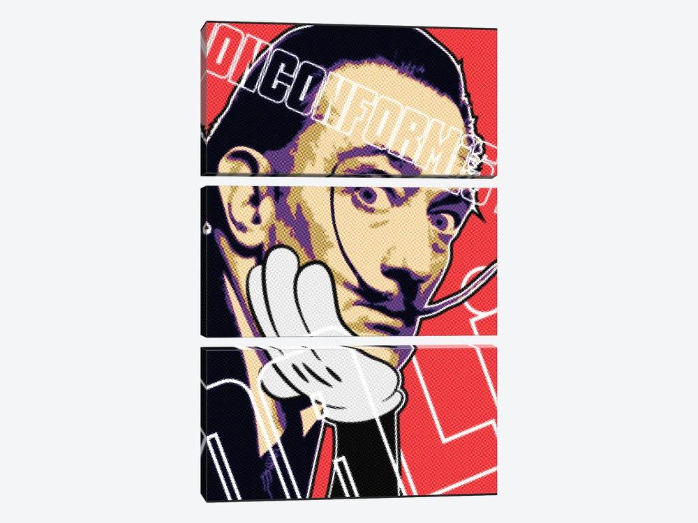 Dali Nonconformist by Cristian Mielu 3-piece Canvas Print