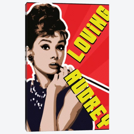 Audrey Smoking Canvas Print #MIE179} by Cristian Mielu Canvas Artwork