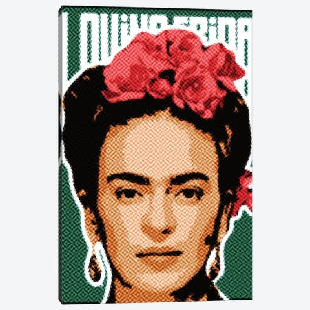Frida Raster Points Canvas Print #MIE180} by Cristian Mielu Art Print