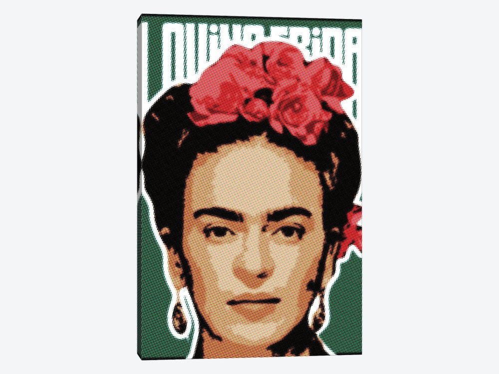 Frida Raster Points by Cristian Mielu 1-piece Canvas Art