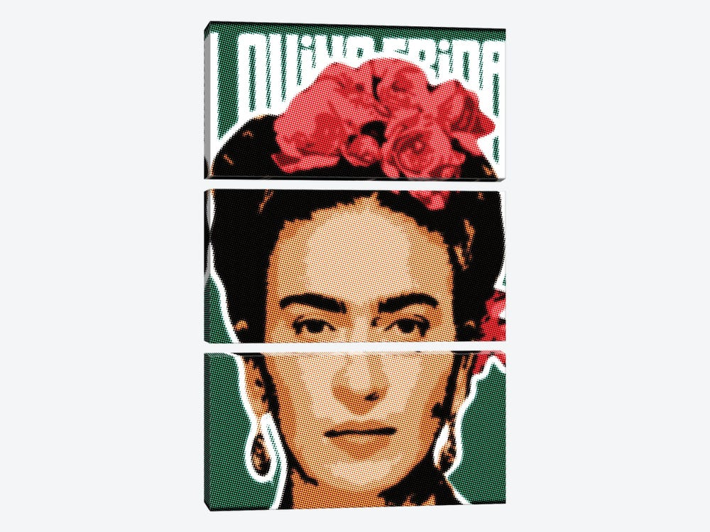 Frida Raster Points by Cristian Mielu 3-piece Canvas Wall Art