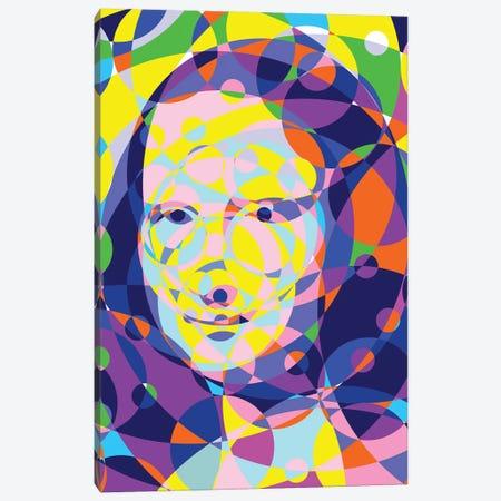 Mona Lisa United Circles Canvas Print #MIE182} by Cristian Mielu Canvas Art Print
