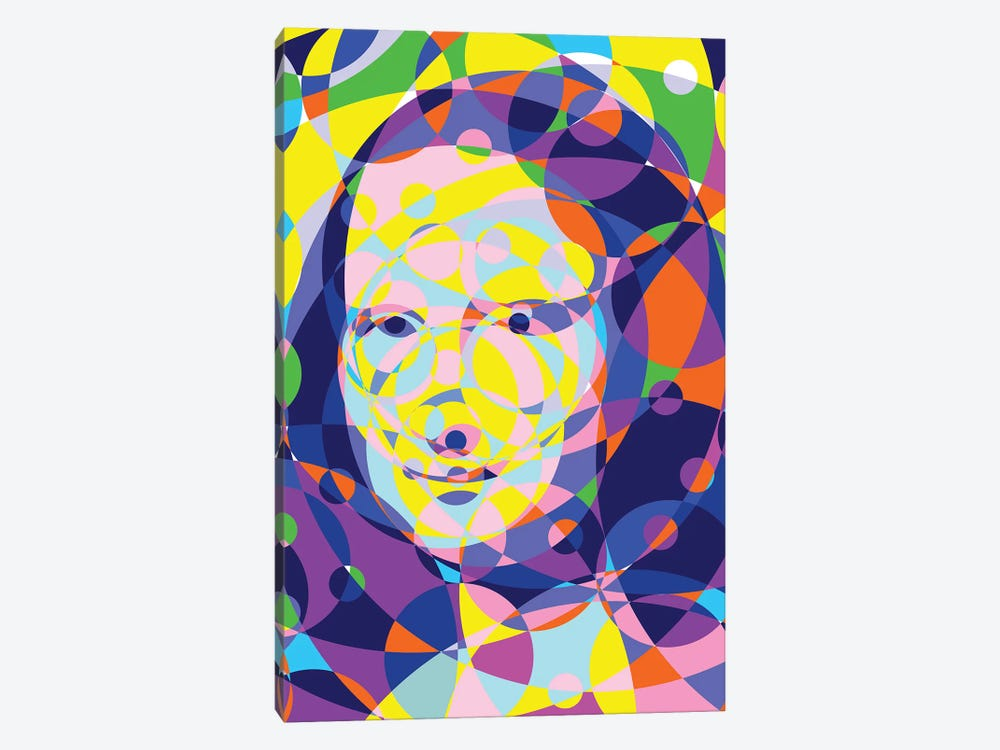 Mona Lisa United Circles by Cristian Mielu 1-piece Canvas Artwork