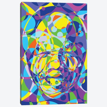 Mandela United Circles Canvas Print #MIE185} by Cristian Mielu Canvas Artwork