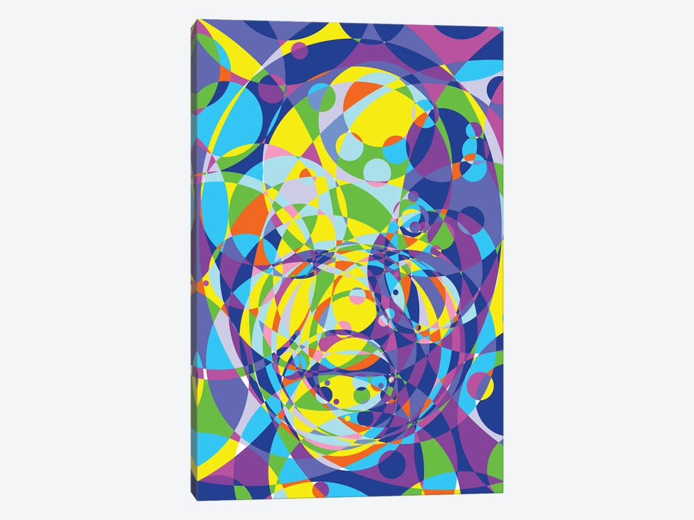 Mandela United Circles by Cristian Mielu 1-piece Canvas Print