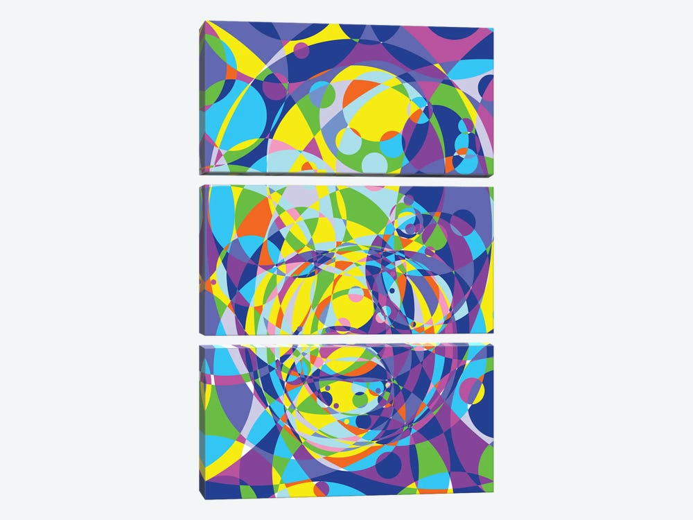 Mandela United Circles by Cristian Mielu 3-piece Canvas Print
