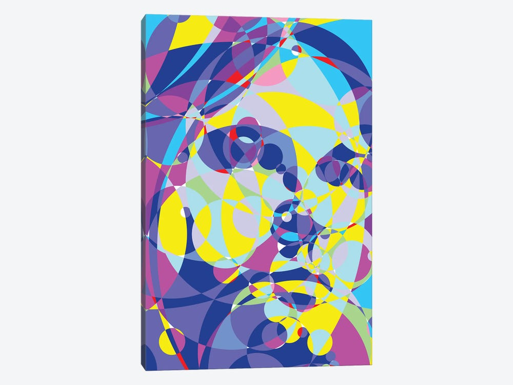 Kurt Colored Circles by Cristian Mielu 1-piece Canvas Art