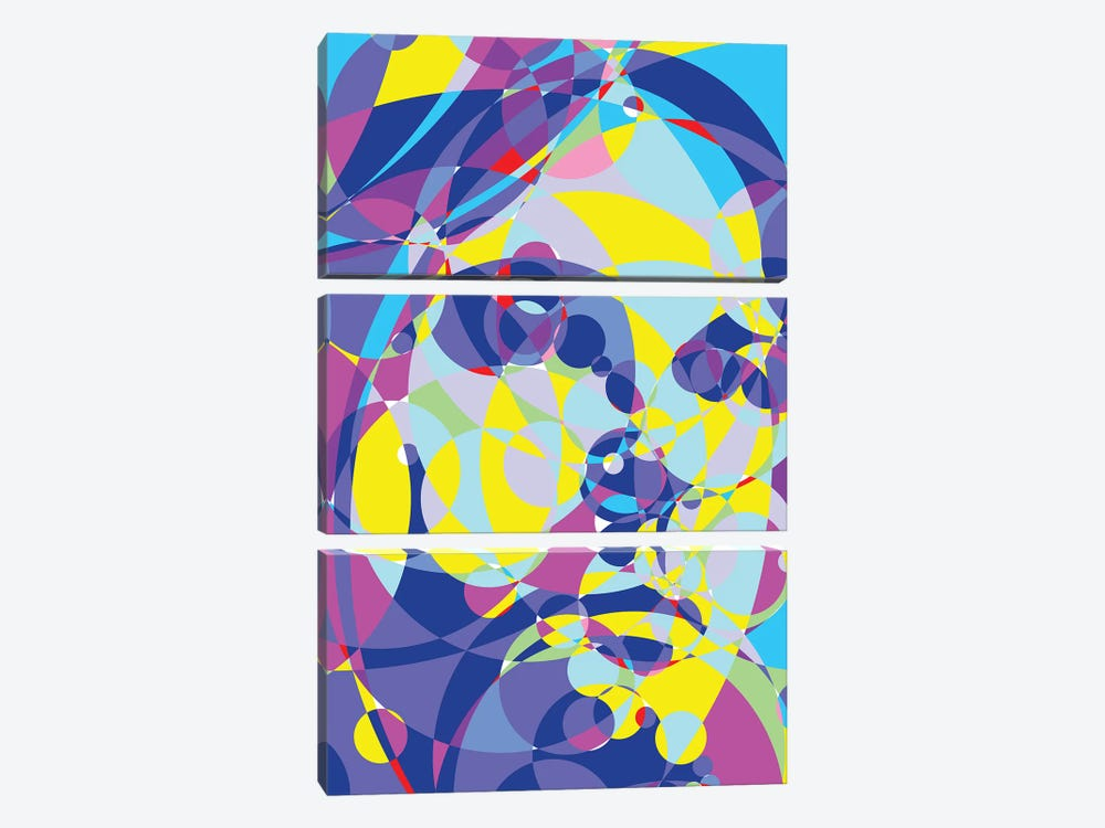 Kurt Colored Circles by Cristian Mielu 3-piece Canvas Art