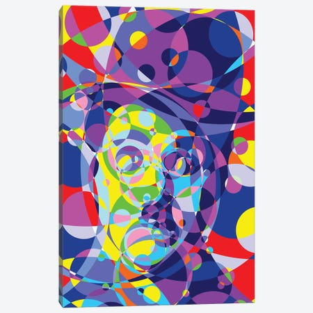 Chaplin Colored Circles Canvas Print #MIE188} by Cristian Mielu Canvas Print