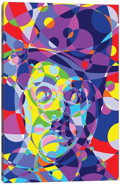 Chaplin Colored Circles Canvas Art Print