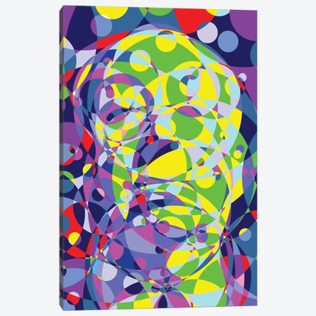 Alfred Colored Circles Circles Canvas Print #MIE189} by Cristian Mielu Art Print