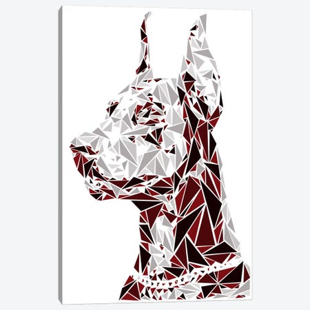 Doberman Canvas Print #MIE18} by Cristian Mielu Canvas Art